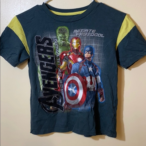 Marvel Avengers Boys Youth Short Sleeve Age of Ultron Graphic T Shirt